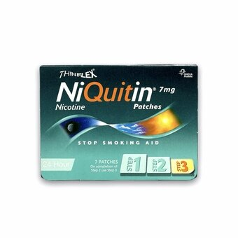 Niquitin Patches Original - Step 3 - 7mg (Pack of 7)
