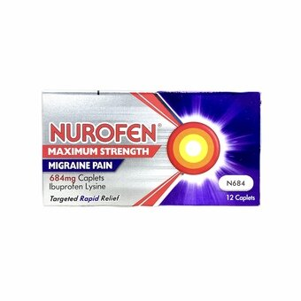Nurofen Max Strength Migraine Pain Capsules (Pack of 12)