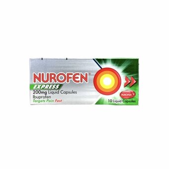 Nurofen Express 200mg Liquid Capsules (Pack of 10)