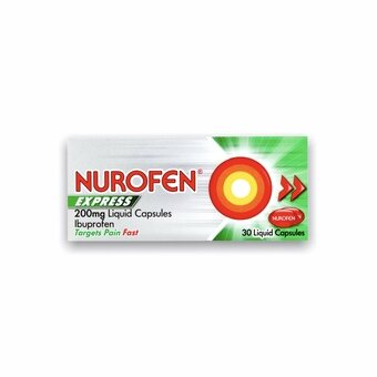 Nurofen Express Liquid 200mg Capsules (Pack of 30)