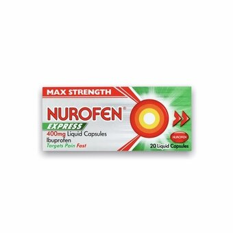 Nurofen Express Liquid Capsules 400mg (Pack of 20)