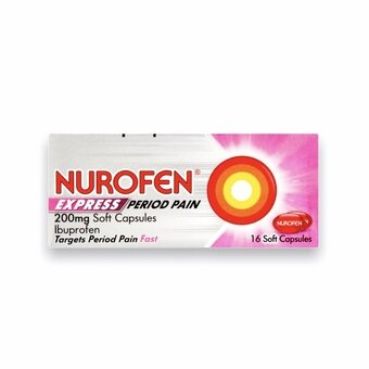 Nurofen Express Period Pain Capsules 200mg (Pack of 16)