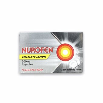 Nurofen Meltlets Lemon Tablets (Pack of 12)