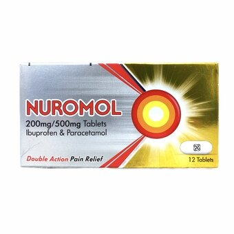 Nuromol Double Action Tablets (Pack of 12)