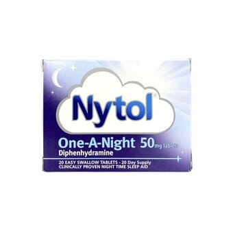 Nytol Tablets 50mg One-A-Night (Pack of 20)