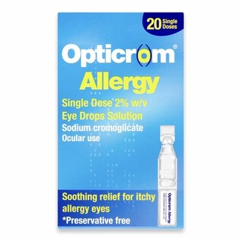 Opticrom Allergy Eye Drops Solution - Single Dose 2% (20 doses)