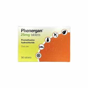 Phenergan Tablets 25mg (Pack of 56)