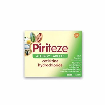 Piriteze Allergy Tablets (Pack of 14)
