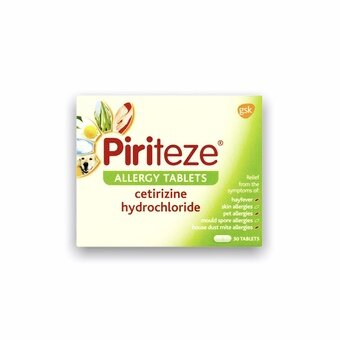 Piriteze Allergy Tablets (Pack of 30)