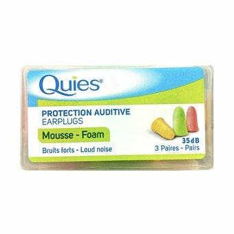 Quies Protection Auditive Foam Earplugs (3 Pairs)