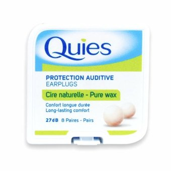 Quies Protection Auditive Wax Earplugs (8 Pairs)
