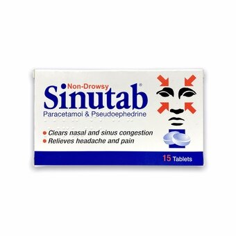 Sinutab Tablets (Pack of 15)