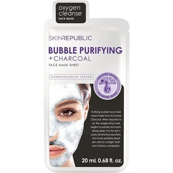Skin Republic Bubble Purifying + Charcoal Face Mask Sheet 20ml