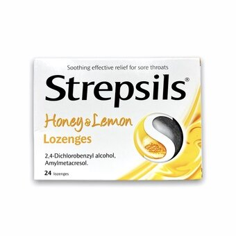 Strepsils Lozenges Honey & Lemon (Pack of 24)