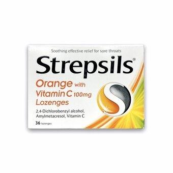Strepsils Lozenges Orange & Vitamin C (Pack of 36)