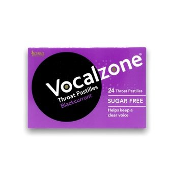 Vocalzone Throat Pastilles Blackcurrant (Pack of 24)