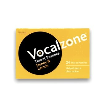 Vocalzone Throat Pastilles Honey & Lemon (Pack of 24)
