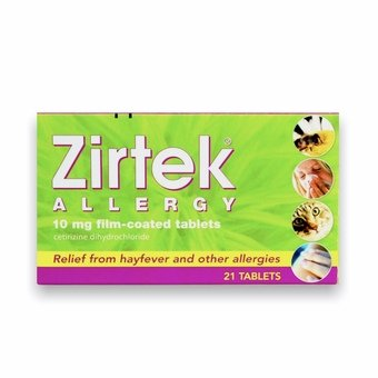 Zirtek Allergy Tablets (Pack of 21)