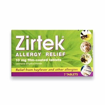 Zirtek Allergy Relief Tablets (Pack of 7)